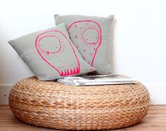 Navajo Owl Cushion Cover - Handmade nursery decor #pillow #cushion #home #deco