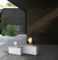 Muro bioethanol fireplace by Conmoto.