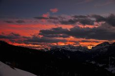 Val Badia al tramonto