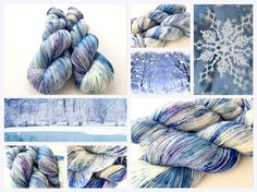 Winter Wonderland!! Hand dyed yarn by Witch Candy Yarn.