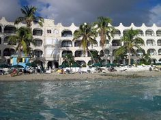 View from the water of the Belair Beach Hotel in St. Maarten