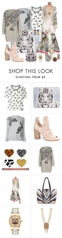 """tiger"" by smile-my ❤ liked on Polyvore featuring Shavel, Victoria, Victoria Beckham, Chinese Laundry, Kenzo, F.R.S For Restless Sleepers, Elena Ghisellini, Lucia Odescalchi, tiger and woman"