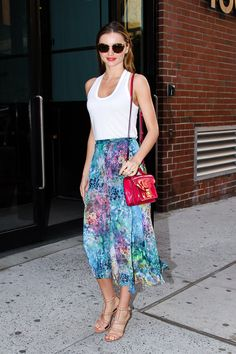 Miranda Kerr Shows Off Her Topshop Style