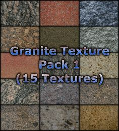 Here's a collection of 15 granite surface textures, mostly taken from various kitchen counter tops. These granite textures are all 10 megapixel. Photoshop, Texture Packs, Article Design, Granite, Commercial, Surface, Packing, Blog, Free