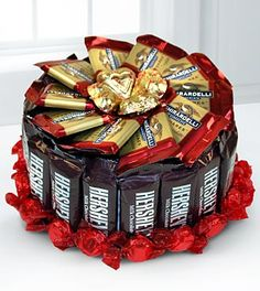 Sweets in Bloom® Celebration Chocolate Candy Cake