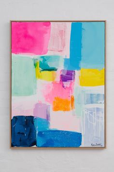 Diy Canvas Art, Abstract Canvas, Colorful Abstract Art, Contemporary Abstract Art, Painting Inspiration, Art Lessons, Art Projects, Art Drawings, Artwork