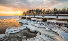 Frozen Warmth by kaizross Cold Finalnd Helsinki Lauttasaari fog frozen ice landscape pier sea seascape sunset winter Frozen Wa Freeze Ice, Helsinki, Sunrise, Frozen, Cold, Sea, Landscape, Winter, Nature