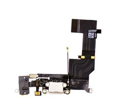 Charging Dock/Headphone Jack Flex Cable for the iPhone 5s, White
