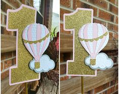 Pastel Hot Air Balloon Cake Topper up up & away party Diy Party Decorations, Birthday Decorations, Baby Shower Decorations, Girl First Birthday, First Birthday Parties, First Birthdays, Hot Air Balloon Cake, Baby Party, Baby Shower Balloons