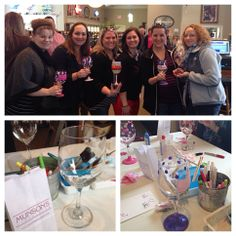 Wine Glass Painting Parties for a girls night out!