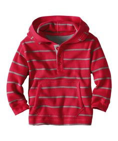 Apple Red Stripe Thermal Hoodie - Infant, Toddler & Boys by Hanna Andersson $21.99