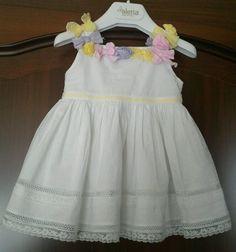 Aletta abito battesimo cerimonia bimba neonata 9 mesi made italy vestitino  bianc in Abbigliamento e accessori 63f6a5b88b5