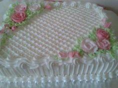Cake Icing, Buttercream Cake, Cupcake Cakes, Buttercream Decorating, Cake Decorating Tips, Fancy Cakes, Cute Cakes, Sheet Cakes Decorated, Sheet Cake Designs