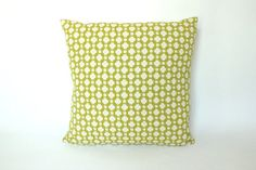 Both Sides Chartreuse Betwixt Schumacher by ThePillowStudioShop