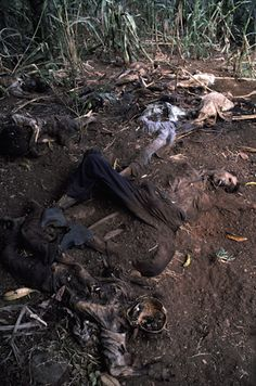 Corpse killed during the El Mozote Massacre. 1982