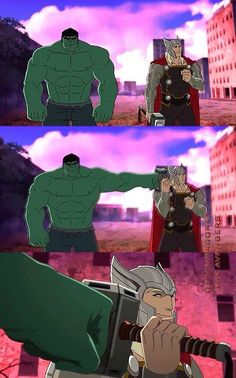 Thor and Hulk - Avengers Assemble << Thor has learned