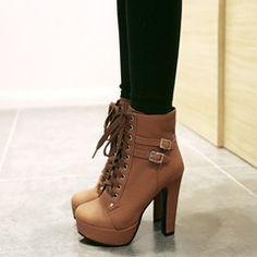 Shoespie Mature Ankle Wrap Stiletto Heels