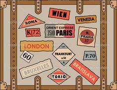depositphotos_28067377-Vintage-travel-stickers-on-old-luggage.jpg (1023×791)