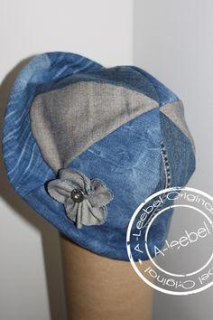 Hoedje van old jeans gemaakt. Made by A-leebel.nl