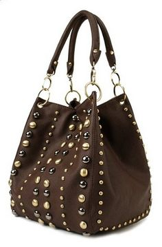 Studded Style Handbag H1201 - For Sale