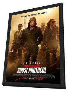 Mission: Impossible - Ghost Protocol 11x17 Framed Movie Poster (2011)