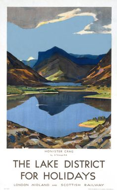 This The Lake district for Holidays - Honister Crag Art Print Art Print is created using state of the art, industry leading Digital printers. The result - a stunning reproduction at an affordable price. The Lake district for Holidays - Honister Crag Posters Uk, Train Posters, Railway Posters, Poster Prints, Art Prints, Lake District Holidays, Countryside Landscape, British Travel, National Railway Museum