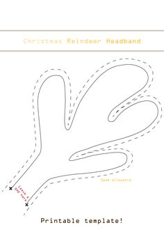Printable reindeer antler template · Printable reindeer ears template ...