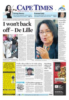 I won't back off De Lille