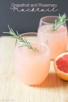 Grapefruit and Rosemary Mocktail - a refreshing drink for Easter brunch or baby or bridal shower