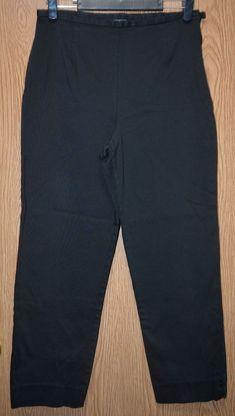 2e8afcc2cbfe2 Womens Black Worthington Flat Front Capri Cropped Pants Size 12 excellent   fashion  clothing
