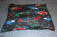 Muscle Car Travel Pillow - hand sewn cover. Mustangs, Chargers, and more!