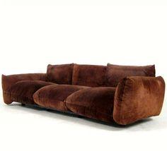Mario Marenco; Suede Sofa for Arflex, c1970.