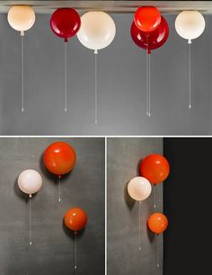 Light up your child's room with balloons! Pull the string to turn the lights on and off