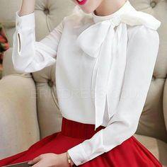 Feminine White Shirt For Working Outfit Modest Fashion, Hijab Fashion, Girl Fashion, Fashion Dresses, Womens Fashion, Hijab Stile, Cute Blouses, Beautiful Blouses, Office Fashion