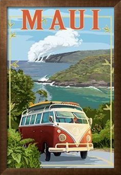 Maui, Hawaii Cruise Art Print by Lantern Press at Art.com