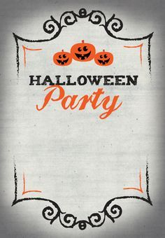 free printable for your halloween party invites free printables