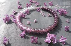 >>Lilac Glass Necklace - by Petra Hamplova<<  Enjoy Uniqueness & Quality of Czech Design http://en.bohemia-design-market.com/designer/petra-hamplova