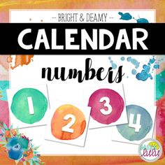 Use these numbers with any classroom calendar for a fun watercolor look! Includes numbers 1-31, 23/30 and 24/31. Grab the whole calendar set here. *****************************************************************************See my other calendar sets here: See my other calendar sets here: *****************************************************************************Earn FREE or Discounted Products: By leaving feedback on your purchases, you can earn credits that will save you money on future…