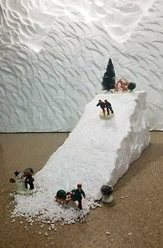 Christmas Village Ski Slope Mountain for Lemax, Dept Dickens, North Pole, Snow Village Christmas Village Ski Slope Mountain for Lemax Dept 56 Halloween Village Display, Christmas Tree Village, Christmas Town, Christmas Villages, Noel Christmas, White Christmas, Diy Christmas Village Platform, Christmas Mantles, Victorian Christmas