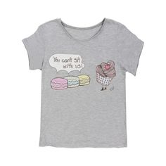 Womens Tshirts - Mean Macarons - Valfre Crew Tee