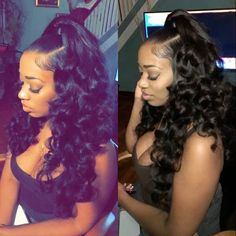 Black girls hairstyles for prom black girl hairstyles for prom aw Sew In Hairstyles, My Hairstyle, Black Girls Hairstyles, Trendy Hairstyles, Hairstyle Ideas, Wedding Hairstyles, Birthday Hairstyles, Weave Ponytail Hairstyles, Hairstyles Pictures