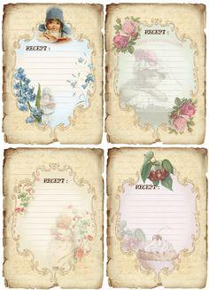 Tarjetas de la receta