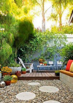 Un petit jardin verdoyant