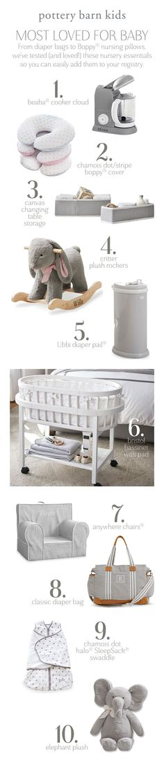 Most Loved for Baby - From diaper bags to Boppy nursing pillows, we've tested (and loved!) these nursery essentials so you can easily add them to your registry. Learn crafty baby shower ideas and decors! Boppy Nursing Pillow, Baby Checklist, Baby Must Haves, Everything Baby, First Baby, Baby Baby, Baby Needs, Baby Time, Baby Hacks