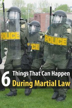 Martial law usually happens during a large riot, a terrorist…