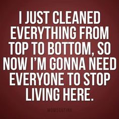 I feel like this every time I clean the house!