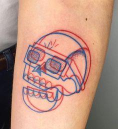 Winston the whale skull tattoo