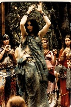 ♀ Aida dancing with Bal Anat, 1972    my heart is leaping out of my chest with excitement