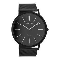 OOZOO Vintage watch Black steel -- Bol.com
