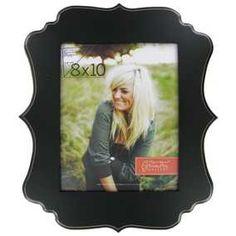 "Black 8"" x 10"" Ornate Shaped Wall Frame"